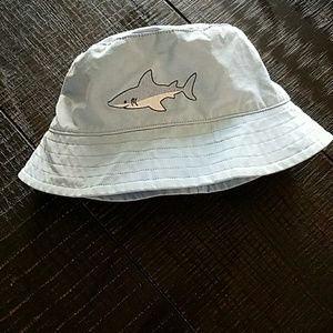 Janie and Jack Shark Print Sun/Swim Hat
